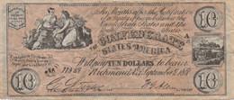 Confederates Of America : 10 Dollars 1861 - Confederate (1861-1864)