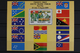 Vanuatu, MiNr. Block 16, 10 Jahre Unabhängigkeit, Postfrisch / MNH - Vanuatu (1980-...)