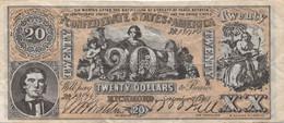 Confederates Of America : 20 Dollars 1861 - Confederate (1861-1864)