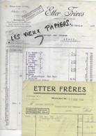 57 - Moselle - SIERCK - Facture ETTER - Quincaillerie - 1932 - REF 167C - 1900 – 1949