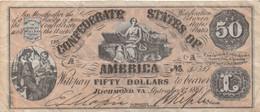Confederates Of America : 50 Dollars 1861 - Confederate (1861-1864)