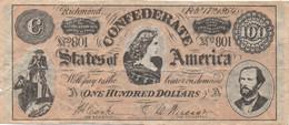 Confederates Of America : 100 Dollars 1864 - Confederate (1861-1864)