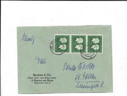Brief Aus Hanau Nach St. Gallen 1954 - Storia Postale