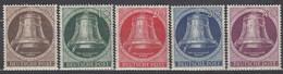 BERLIN 75-79, Postfrisch **, Freiheitsglocke, Klöppel Nach Links 1951 - Unused Stamps