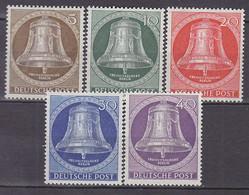 BERLIN 101-105, Postfrisch **, Freiheitsglocke, Klöppel In Der Mitte 1953 - Unused Stamps