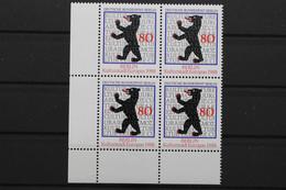 Berlin, MiNr. 800, Viererblock, Ecke Links Unten, Postfrisch / MNH - Ongebruikt