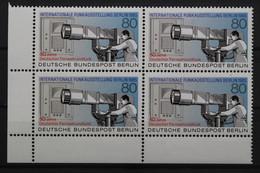 Berlin, MiNr. 741, Viererblock, Ecke Links Unten, Postfrisch / MNH - Ongebruikt