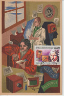 Carte Maximum Card Photo Photographie Daguerre Et Niepce Sur Carte 1940  Illustrée Par Paule Ingrand Timbre Madagascar - Fotografia