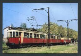 """Carte-photo Moderne """"Tramway Lyon-Vaugneray à La Gare De La Demi-Lune - Tram Années 50"""" - Tram"""