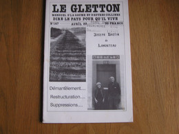 LE GLETTON N° 147 Régionalisme Ardenne Gaume Patois Poète Mémoires Guerre 40 45 Gare Lamorteau Ecouviez Gorcy - Belgien