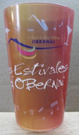 VERRE EN PLASTIQUE GOBELET COMITE DES FETES OBERNAI LES FESTIVALS D'OBERNAI 28CL CHIC'U CUP GERMAY PLASTIQUE EN BRETAGNE - Glasses