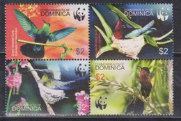 Dominica, WWF, Birds, Hummingbirds, 2005, 4 Stamps - Kolibries