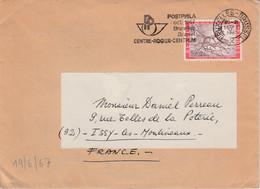 BELGIQUE SEUL SUR LETTRE POUR LA FRANCE 1967 - Belgium
