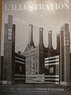 Illustration Centrale électrique Petain Saint étienne Puy Montesquieu Ain Tuizert Barrage Chambon Magnet Carbogaz - L'Illustration