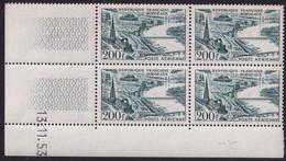 France Coins Datés Poste Aérienne N°25 200F Bordeaux 13.11.53 ** - Ecken (Datum)