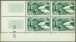 France Coins Datés Poste Aérienne N°25 200F Bordeaux 17.3.53 ** - Ecken (Datum)