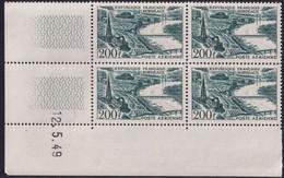 France Coins Datés Poste Aérienne N°25 200F Bordeaux 12.5.49 ** - Ecken (Datum)