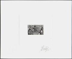 France épreuves D'artistes 2000 à 2017 N°3597 Les Toits De Bourgogne épreuve D'artiste En Noir Signée - Artist Proofs