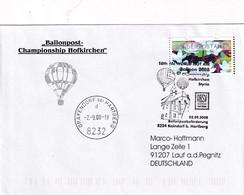 Austria 2007 Cover; ATM  Frama Label; Flora Flowers Fleur; Lotos; Baloon Balloon FAI World Hot Air Championship Styria - Andere
