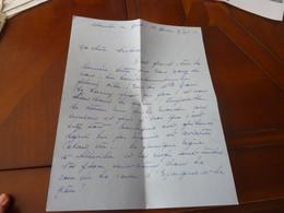 LETTE MANUSCRIT CORRESPONDANCE GUERRE 39-45 ABBEVILLE 9 SEPTEMBRE  1943 - Documenti