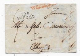 Département Conquis ALLEMAND  Lettre  Marque 103 / WEZEL  1813 - 1792-1815: Dipartimenti Conquistati