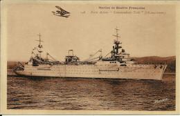 """Marine De Guerre Française , Porte Avions """" Commandant Testé """" ( 18000 Tonnes ) - Krieg"""