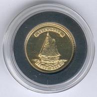"Nordkorea 10 Won 2008 Segelschiff ""SEUTE DEERN"" - 1g 917er Gold, Durchmesser: 16mm, Mit Zertifikat, PP- - Corea Del Nord"