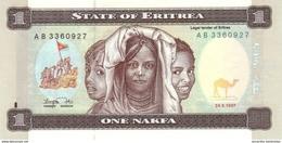 Eritrea (BOE) 1 Nakfa 1997 UNC Cat No. P-1a / ER101a - Eritrea