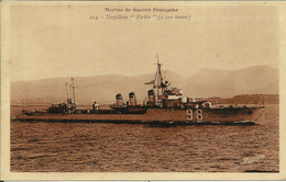 """Marine De Guerre Française , Torpilleur """" Forbin """" ( 1500 Tonnes ) - Krieg"""