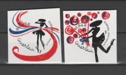 """FRANCE / 2020 / Y&T N° AA 1813/1814 ** : """"Cœurs Guerlain"""" (2 TP Adhésifs De Feuille) X 1 Paire - Sellos Autoadhesivos"""