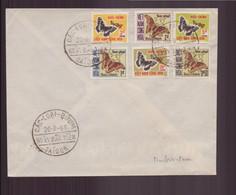 """Vietnam, FDC Enveloppe Du 12 Août  1968 à Saïgon """" Les Papillons """" - Vietnam"""