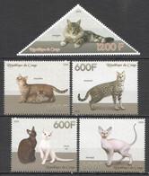 PE321 2014 CATS PETS DOMESTIC ANIMALS FAUNA 1SET MNH - Gatti