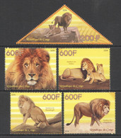 PE323 2014 LIONS WILD CATS ANIMALS FAUNA 1SET MNH - Felini