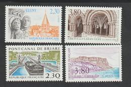 ANNÉE  1990 -   N°2657  à 2660 - Série Touristique   - 4  Val    -   Neufs Sans Charnière  - - Nuovi