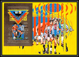 85978/ N°113 B World Cup ESPANA 82 1981 Football Soccer Centrafrique Centrafricaine OR Gold ** MNH Non Dentelé Imperf - 1982 – Espagne