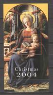 Sierra Leone 2004 Mi Block 603 MNH CHRISTMAS - PAINTING MADONNA & CHILD - Christmas
