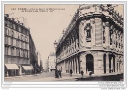 75) PARIS (VII°) LA RUE DU BAC ET LE BÂTIMENT ANNEXE DU MINISTERE DES FINANCES  (LES EDITIONS ARTISTIQUES LIP - 2 SCANS) - Paris (07)