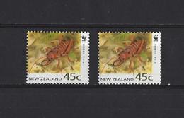 Nouv. Zélande: 1238A ** (2x) - Crustáceos