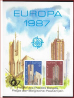 BELGIE - BELGIQUE Luxevelletje LX76 Europa Moderne Kunst 1987  ! LOT 327 - Luxevelletjes