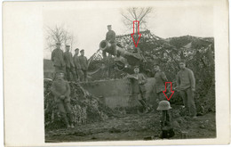 Carte Photo.51(MARNE)Saint Souplet Sur Py.canton BEINE NAUROY.schwere Artillerie 2-16.Soldats Allemande Guerre 14-18.WWI - 1914-18