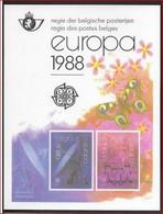 1988 Europa Feuillet De Luxe COB 2283-4 LX77   ! LOT 327 - Luxevelletjes