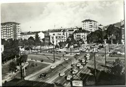 """9541""""TORINO-PIAZZA BERNINI""""INSEGNE CALTEX E A.C.I.-TRAMWAY E VEICOLI '60-VERA FOTOGRAFIA-CARTOLINA NON SPEDITA - Places"""