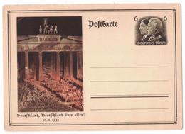 LA268   Berlin Brandenburger Tor 1933 CAK P250, 6 Pf Ganzsachenkarte Hindenburg Card Bildpostkarte - Ganzsachen