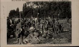 LES ECLAIREURS DE FRANCE...(BOYS SCOUTS FRANCAIS)...LA VIE AU CAMP..RETOUR DE LA MANOEUVRE ....CPA ANIMEE - Pfadfinder-Bewegung