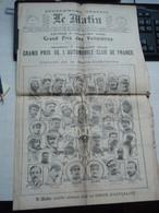 Le Matin - Grand Prix Des Voiturettes 6,7 Juillet 1908. Supplément Gratuit. - Altri