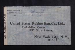EQUATEUR - Enveloppe Commerciale De Guayaquil Pour New York Avec Contrôle En 1942, Affranchissement Au Verso - L 72998 - Equateur