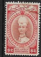 MALAYA - KELANTAN 1940 $2 SG 53 FINE USED Cat £250 - Kelantan