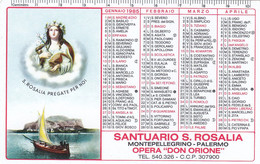 Calendarietto Tascabile Santuario S.rosalia - Anno 1965 - Petit Format : 1961-70