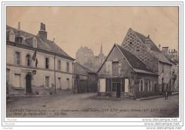 37) Luynes - Gendarmerie , Vieille Maison - Château - Clocher De L'Église + Tampon 9° Section De C.O.A. TOURS - Luynes