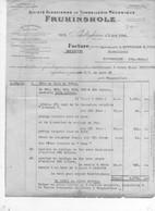 FACTURE 68 SCHILTIGHEIM FRUHINSHOLZ  TONNELLERIE - France
